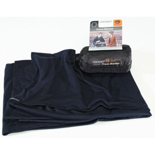 Cocoon Travel Blanket Merino Wool//Silk graphite blue 2019 blau