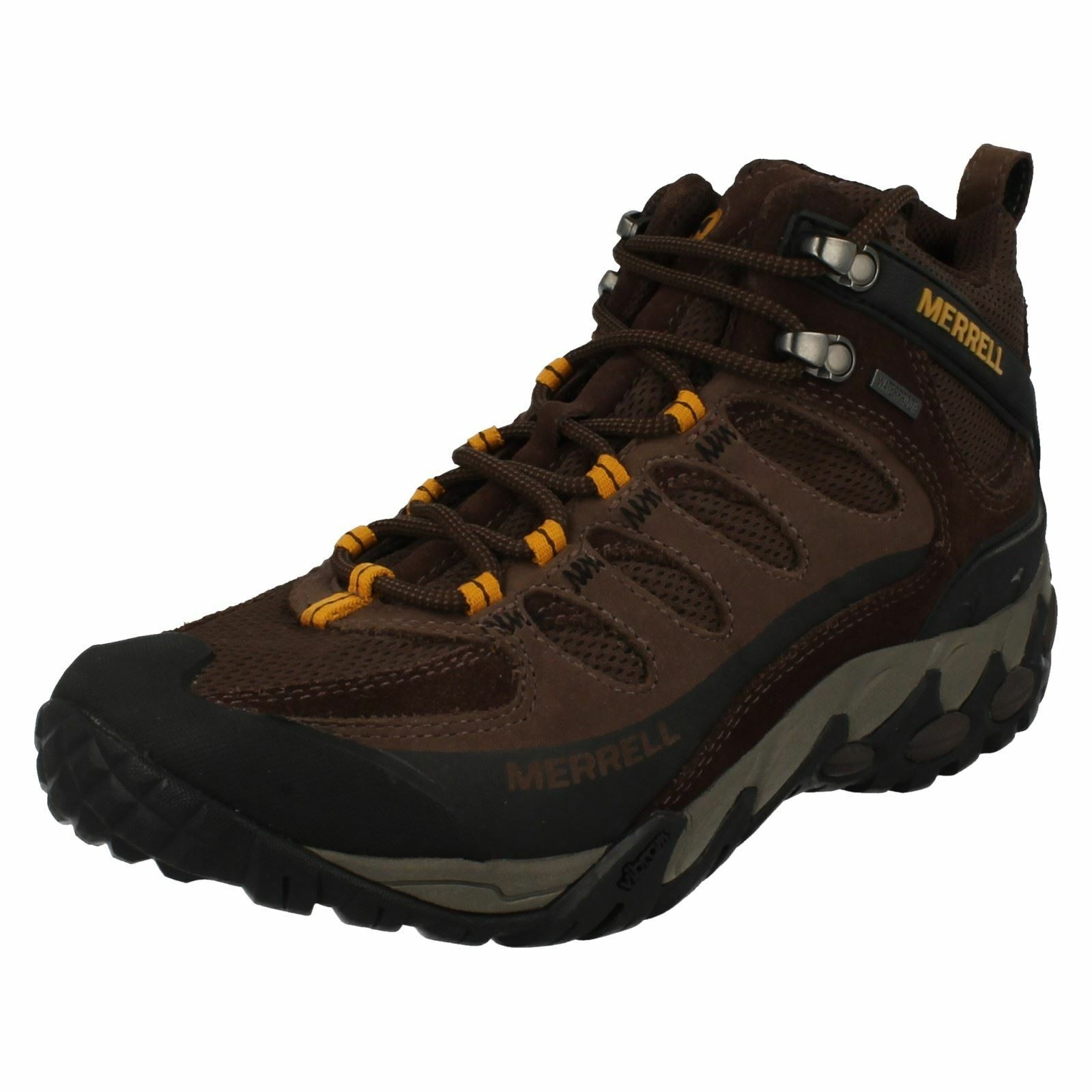 Mens Merrell Lace Up Walking Boots Refuge Core