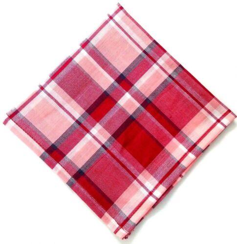 Pocket Square Handkerchief PLAIDS /& CHECKERED 100/% Cotton Men Women Unisex