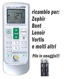 Telecomando climatizzatore aria condizionata Zephir Bent