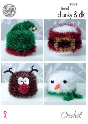 Crochet Pattern Christmas Toilet Roll Holder Snowman Santa Elf Hat ...