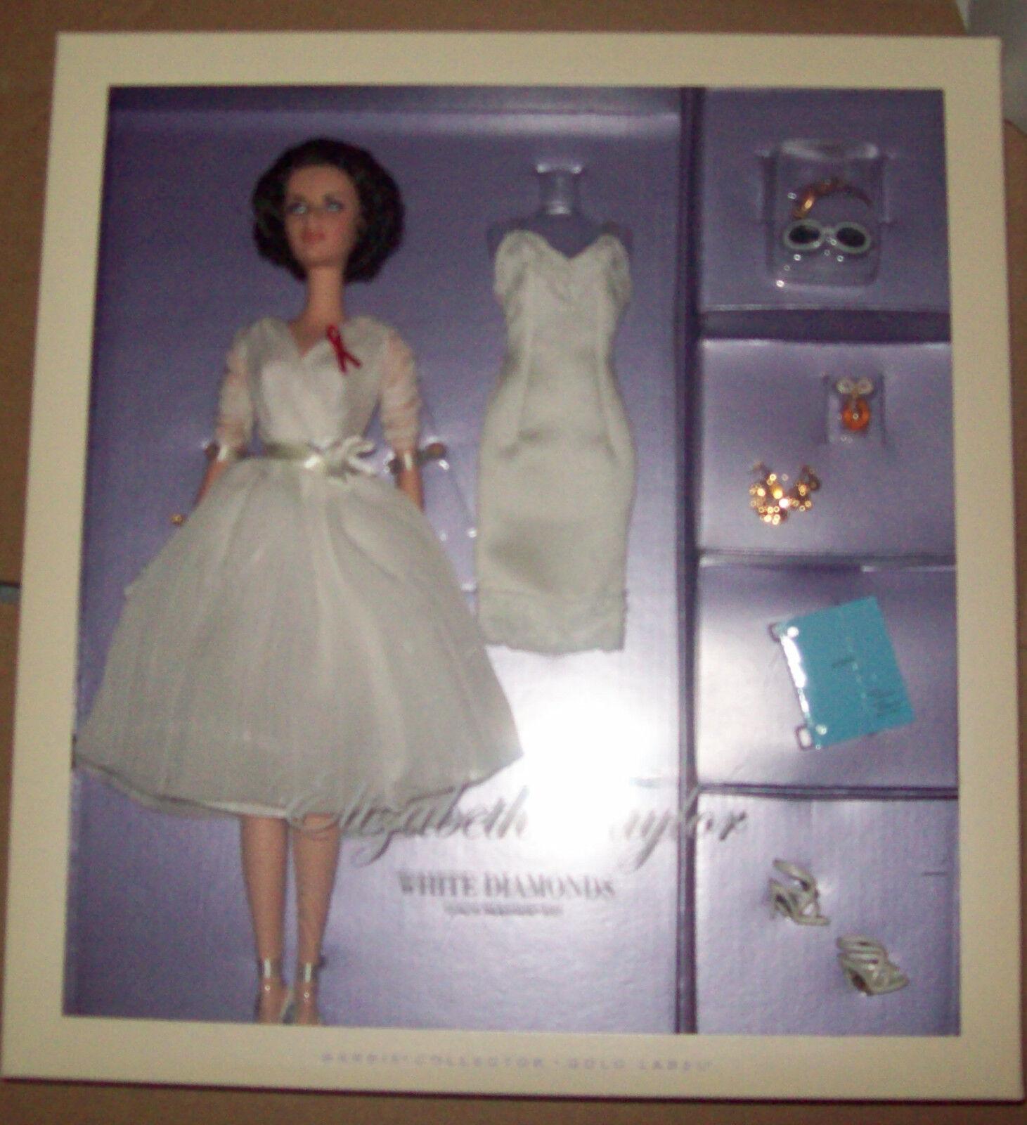 Elizabeth Taylor blanco Diamonds Cali Barbie Nuevo En Caja