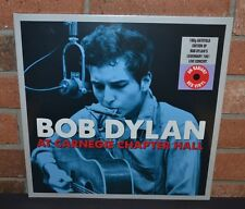 BOB DYLAN - Live At Carnegie Chapter Hall, 2XLP 180 Gram RED VINYL Gatefold NEW!