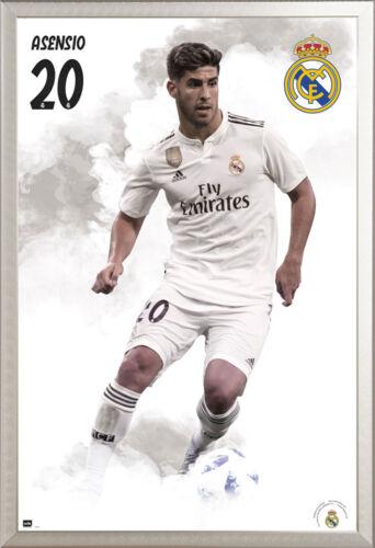 Größe 61x91,5cm Sport Poster Real Madrid Fußball Asensio 18//19