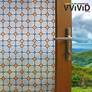 "VViViD Privacy Window Glass Film 36"" x 6ft Diamond Tiles Home Decor Removable"
