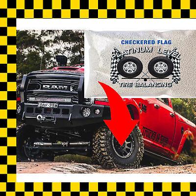 Checkered Flag Tire Balance Beads