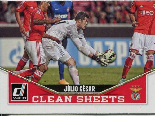 DONRUSS Soccer 2015 draps propres Chase Card #7 JULIO CESAR