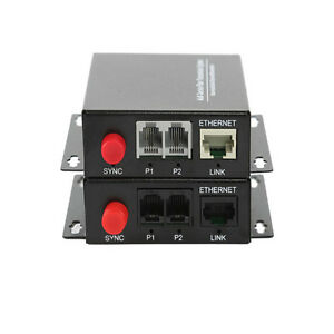 2-Channel-Telephone-Fiber-Optic-Media-Converters-PCM-Voice-With-Ethernet-SM-20Km
