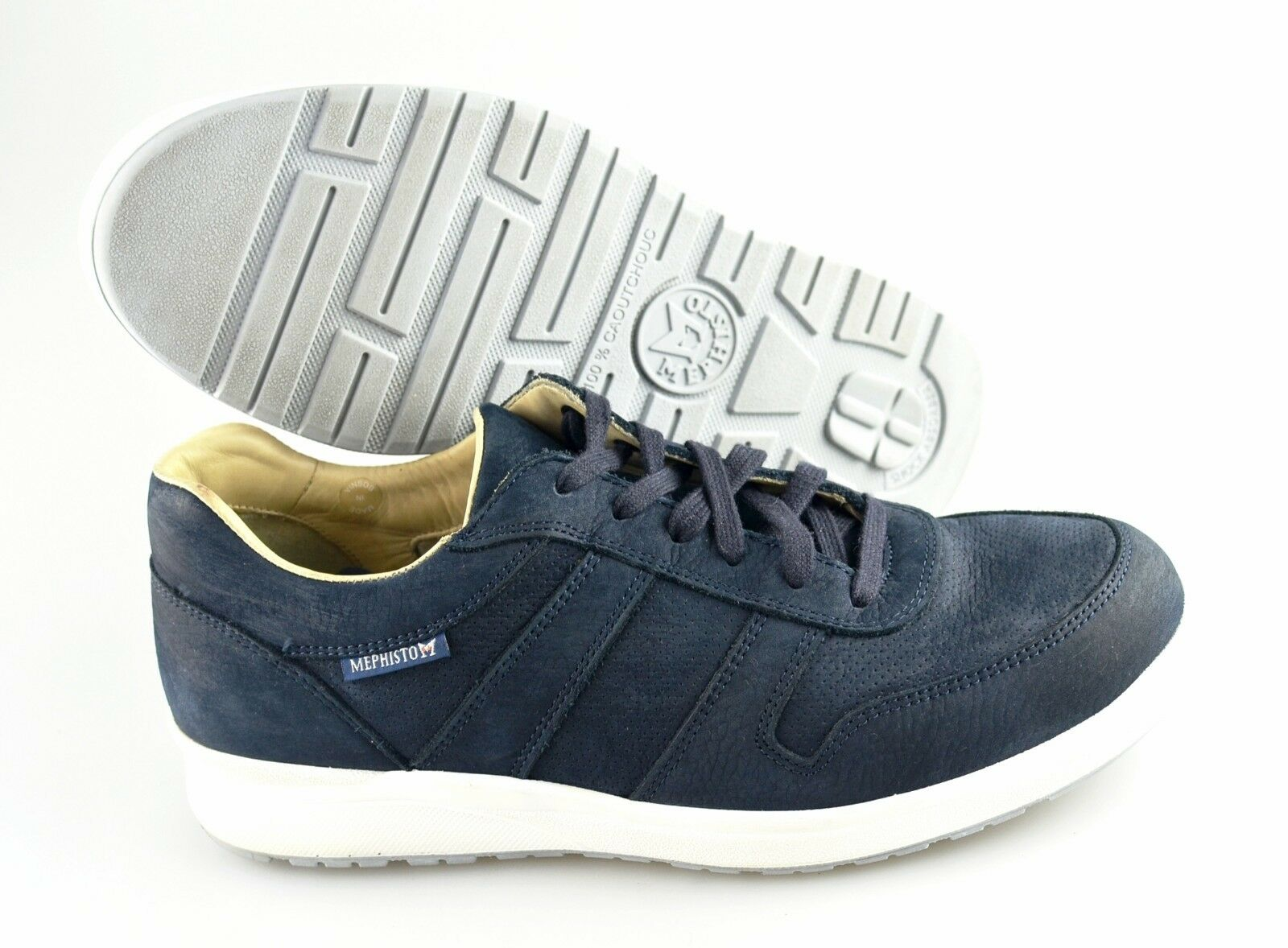 R - Men's MEPHISTO 'Vito' bluee Leather Sneakers Size US 8 EUR 7.5