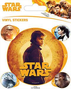Ca Stickerset Set 5 Sticker Aufkleber Solo: A Star Wars Story 10x12,5 Cm