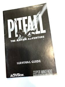 Pitfall-Survival-Guide-Booklet-Book-SUPER-NINTENDO-SNES-Instruction-Manual-ONLY