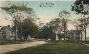 Saybrook-CT-South-Main-Street-c1910-Postcard