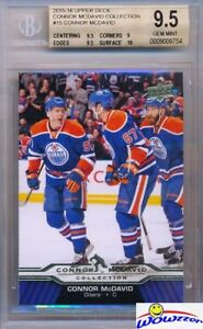 2015-2016-UD-Connor-McDavid-Collection-15-ROOKIE-BGS-9-5-GEM-MINT-Oilers