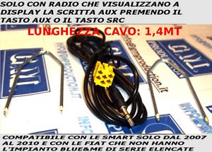 CABLE-SET-AUX-MP3-1-4M-FIAT-Blaupunkt-Grande-Punto-500-Panda-Musa-Idea-159-Brera