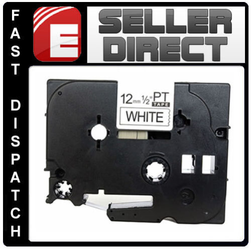 Brother Compatible TZ231 P-Touch For PT9500pc PT9600 12mm Gloss Black//White Tape