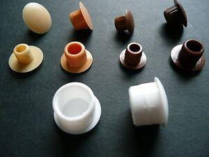 Super Blindstopfen für Löcher von 4 - 12 mm Abdeckkappen in weiß beige DU09