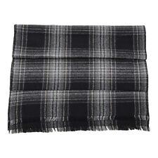 KITON Napoli Extra-fine Wool Scarf Black Gray Checked