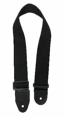 GHS NYLON GUITAR STRAP WINE WITH BLACK LEATHER ENDS MADE IN THE USA GREAT GIFT