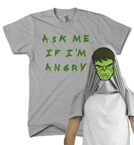Angry Man Flip T Shirt Funny Comedy Gift Present Grumpy Green Film Muscle