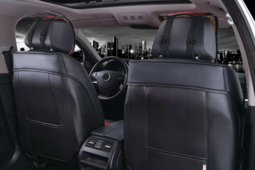 eleganter Set Autositzbezug Sitzbezüge Schonbezüge Schonbezug Kunstleder Grau