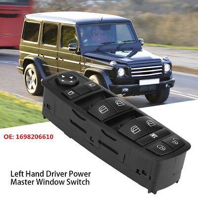 Electric Power Master Window Control Switch 1698206610 For Mercedes Benz W169