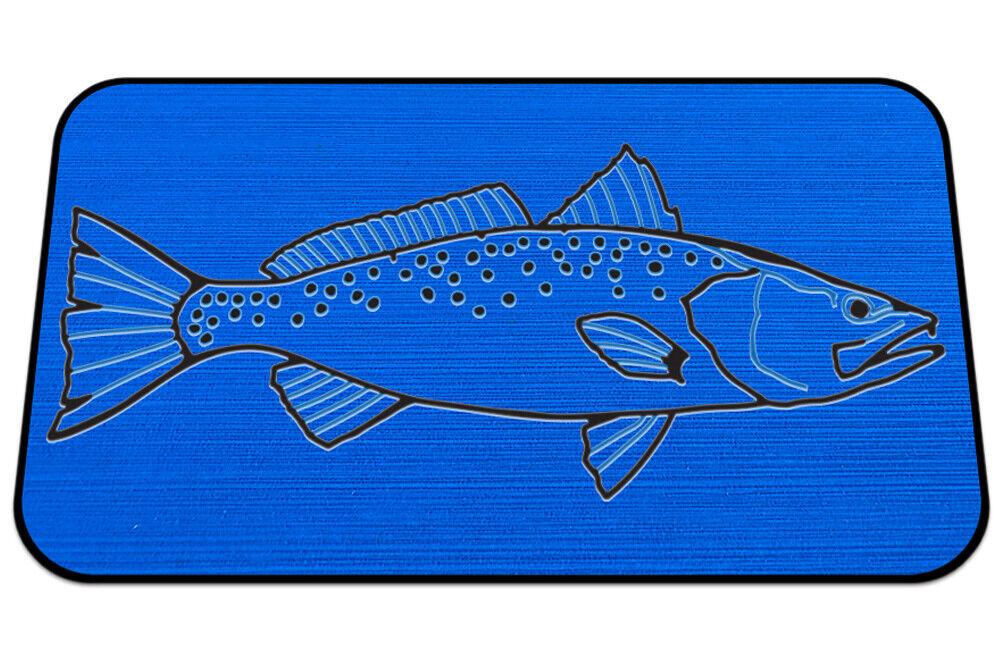 Usatuff Cooler Pad para rtic-SeaDek Marine Eva Mat-Azul Negro-Trucha de mar