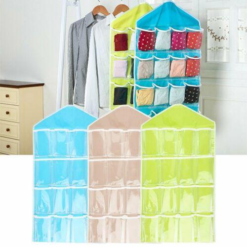 Portable 16 Pockets Hanging Bag Toys Storage Tidy Wall Closet Organizer#^