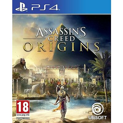 ASSASSIN'S CREED ORIGINS PS4 COPERTINA EU LINGUA IT UFFICIALE ORIGINALE NUOVO