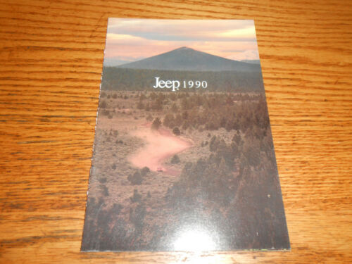 1990 JEEP WRANGLER CHEROKEE WAGONEER COMANCHE 16 p BROCHURE 90 CATALOG