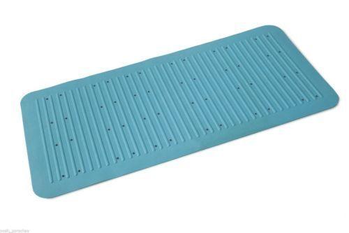 ANTI NON SLIP THICK RUBBER BATH SHOWER MAT EXTRA GRIP LONG 75 X 35 CM SUCTION