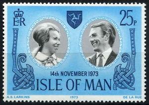ISOLA-di-Man-1973-UMM-Gomma-integra-non-linguellato-Matrimonio-Reale-la-Principessa-Anna-TIMBRO-SG