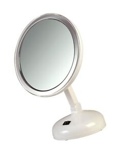 7ed260470b0c Details about Floxite 10X Magnifying LED Lighted Vanity Mirror with 2 Light  Settings