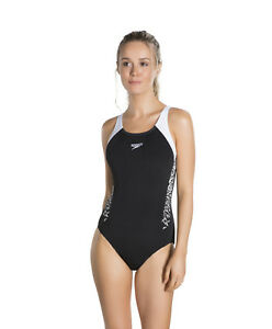 Speedo Boom Splice Muscleback Womens Chlorine Resistant Swimming