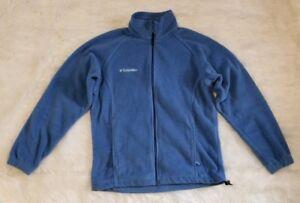 Columbia-Fleece-Jacket-Blue-Women-039-s-Size-Small-Full-Zipper