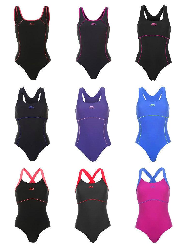 Kostüm Frau Slazenger Olympian Schwimmbad Meer Race Mehrfarben S - M - L
