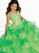 Girl Kids Ball Gown Pageant Dress Bridesmaid Party Princess Gown Flower Dresses.