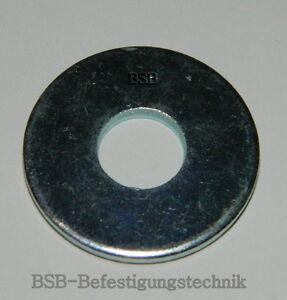 100 Stk Große  Unterlegscheiben M4  Stahl verzinkt DIN 9021