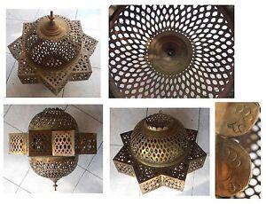 Lampada-grande-stella-metallo-giallo-larghezza-cm-42-artigianato-Marocco-Africa