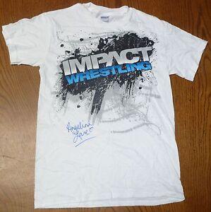 2d93e79d18db Angelina Love Signed Event Worn Used TNA Shirt PSA/DNA LOA Impact ...