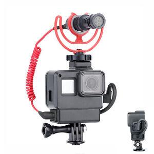 V2 Vlog Carcasa Carcasa Protectora para Gopro Hero 5 6 7 vlogging Jaula marco