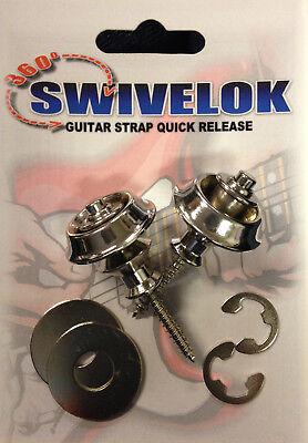Guitar Strap Locks -- Nickel Finish -- Set of 2 - SALE PRICE EXTENDED