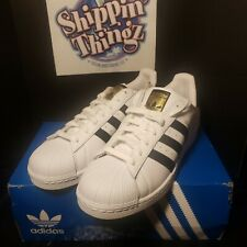 adidas superstar black and white size 10