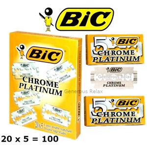 100-50-20-5-BIC-CHROME-PLATINUM-BLADES-DOUBLE-EDGE-RAZOR-BLADES-FOR-WET-SHAVING