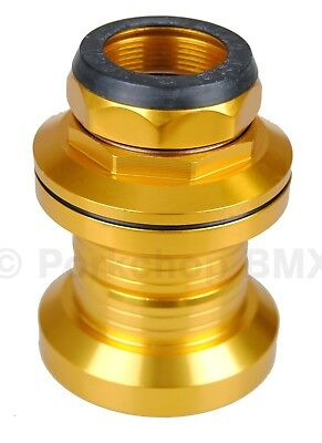 """Aluminum alloy old school BMX bicycle headset 1/"""" threaded 32.5mm cups BLACK"""