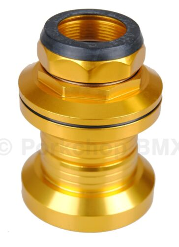 "Aluminum alloy old school BMX bicycle headset 1/"" threaded 32.5mm cups GOLD"