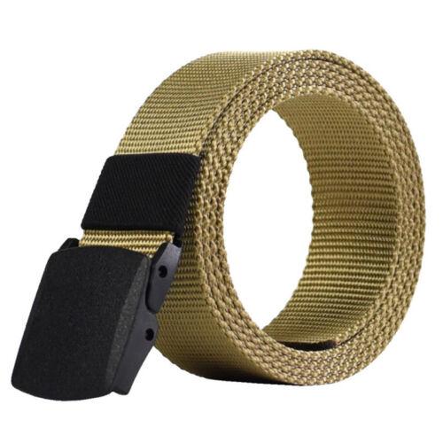 Men/'s Military Tactical Nylon Waistband Canvas Web Buckle Belt Outdoor Sports 1X