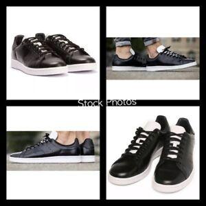 NEW-Adidas-STAN-SMITH-Core-Black-White-LEATHER-Men-6-5-Shoes-Tuxedo-S80018