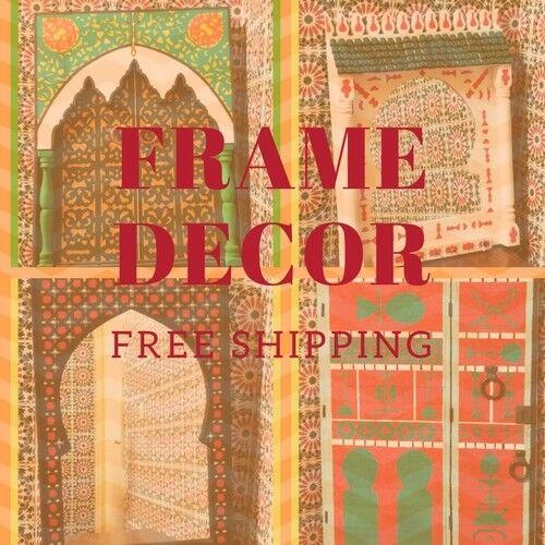 MGoldccan Art wall Decor frame Painted Wood handmade craftman