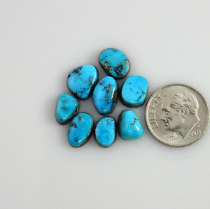 Natural-Morenci-Turquoise-cabochons-cabs-Gemstones-gems-stones-m235