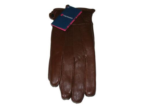 moyenne soft gants en cuir véritable Pour femme marron petite